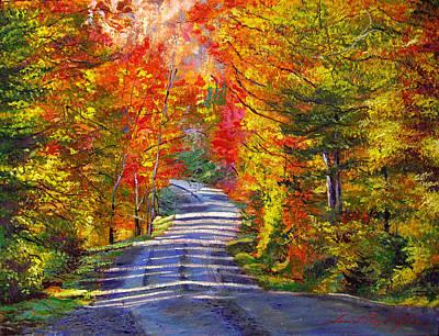 Beautiful Scenery Painting - Autumn Roads by David Lloyd Glover