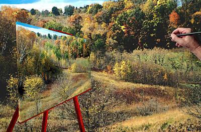 Autumn Roads Art Print