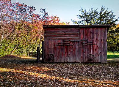 Photograph - Autumn Shed by Sue Stefanowicz