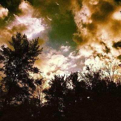 Woodland Wall Art - Photograph - #autumn #sky #clouds #cloudporn by Shannon Ferguson