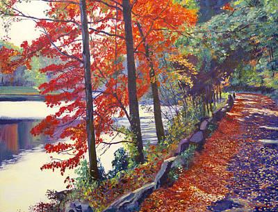 Pathways Painting - Autumn Sonata by David Lloyd Glover