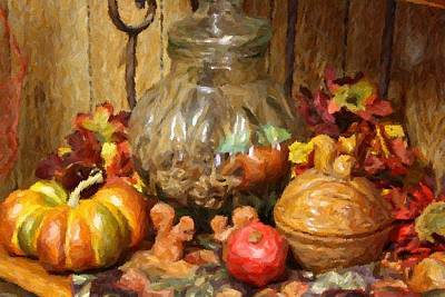 Photograph - Autumn Still Life by Donna G Smith