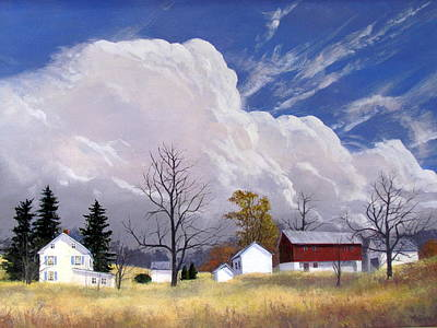 Painting - Autumn Storm by Milan Melicharek