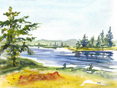 Painting - Autumn Stream by Clara Sue Beym