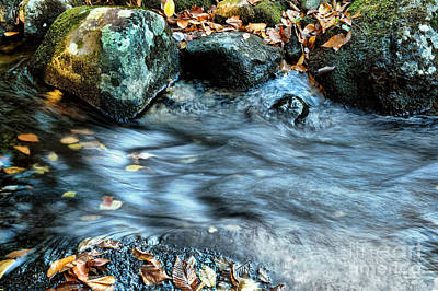 New England Fall Photograph - Autumn Stream by HD Connelly
