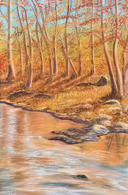 Pastel - Autumn Stream by Jan Amiss