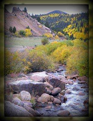 Art Print featuring the photograph Autumn Stream by Michelle Frizzell-Thompson