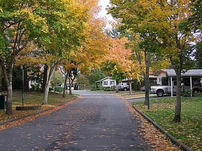 Photograph - Autumn Street by George Cousins