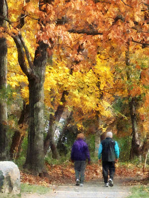 Autumn Stroll Art Print by Susan Savad