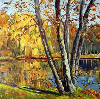 Autumn Sunlight Art Print by Alexandra Maria Ethlyn Cheshire