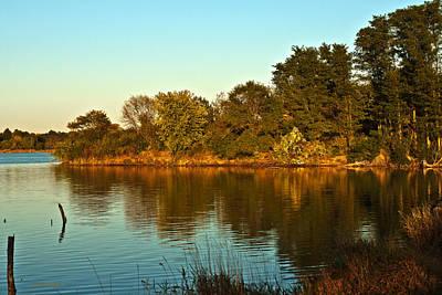 Photograph - Autumn Sunset by Edward Peterson