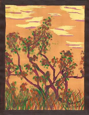 Trudell Painting - Autumn Sunset by Trudell Newton