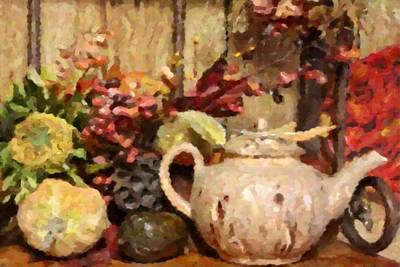 Photograph - Autumn Teapot by Donna G Smith