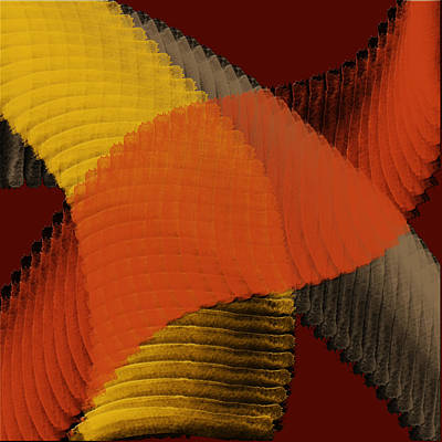 Contemporary Abstract Digital Art - Autumn Tiptoes In by Bonnie Bruno