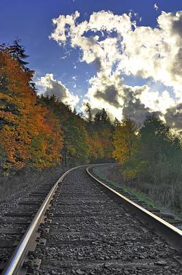 Autumn Tracks Art Print