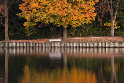 Reflection Photograph - Autumn Tranquility by Andrew Soundarajan