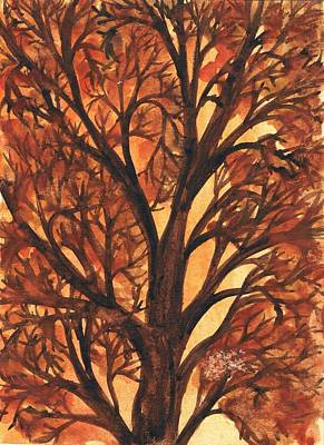 Creative Passages Painting - Autumn Tree 1 by Cassandra Donnelly