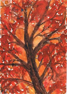 Creative Passages Painting - Autumn Tree 2 by Cassandra Donnelly