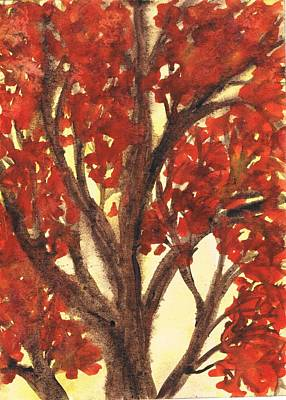 Creative Passages Painting - Autumn Tree 3 by Cassandra Donnelly