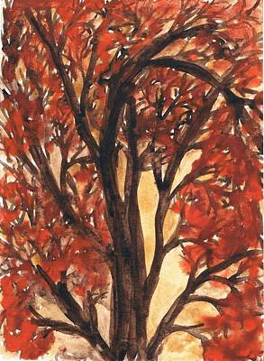 Creative Passages Painting - Autumn Tree 4 by Cassandra Donnelly