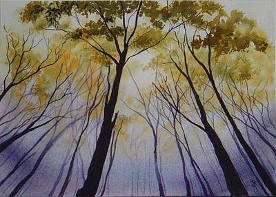 Painting - Autumn Trees by Carol McLagan