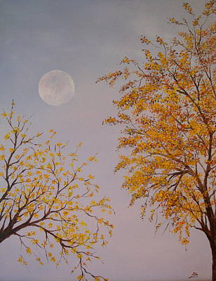 Painting - Autumn Twilight  by Flo Markowitz