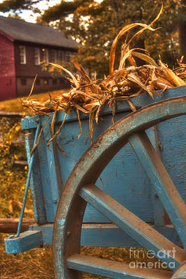 Hay Rides Photograph - Autumn Wagon by Joann Vitali