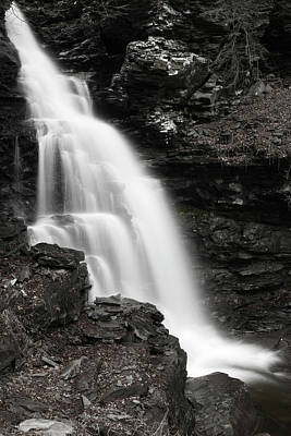 Photograph - Autumn Waterfall Cascade by John Stephens