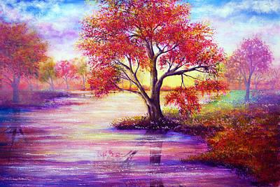 Autumn Waters Print by Ann Marie Bone