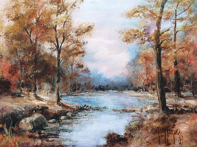 Painting - Autumn Woodlands 1969 by Gary Partin