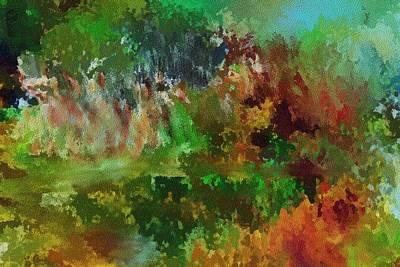 Digital Art - Autumn Woods 122711 by David Lane