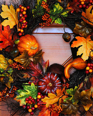 Photograph - Autumn Wreath by Jai Johnson