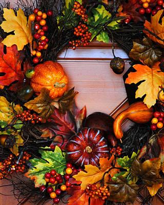 Photograph - Autumn Wreath by Jai Johnson