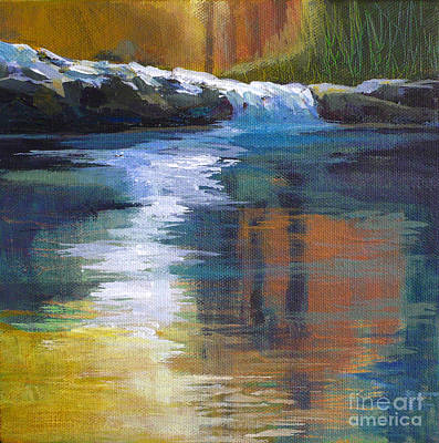 Waterscape Painting - Autumnal Reflections by Melody Cleary