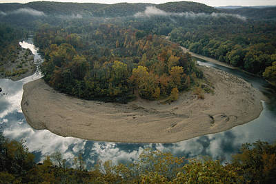 Buffalo National River Photograph - Autumnal View Of One Of The Loops by Randy Olson