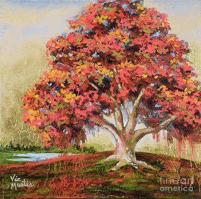 Autumn's Delight Print by Vic  Mastis