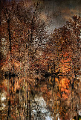 Autumn Leaf On Water Photograph - Autumn's End by Paul Ward