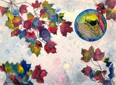 Representative Abstract Mixed Media - Autumns Jewels by David Raderstorf