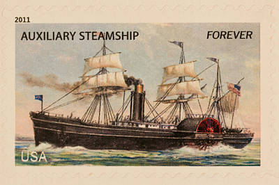 Photograph - Auxiliary Steamship Stamp by Heidi Smith