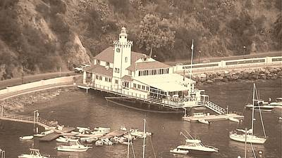 Photograph - Avalon Boathouse In Sepia by Paula Greenlee