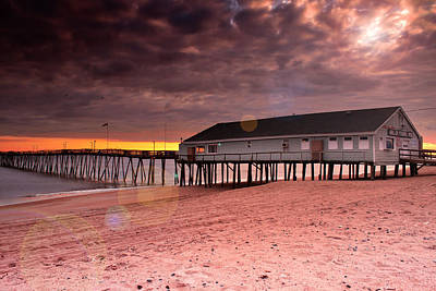 Photograph - Avalon Fishing Pier by Mary Almond