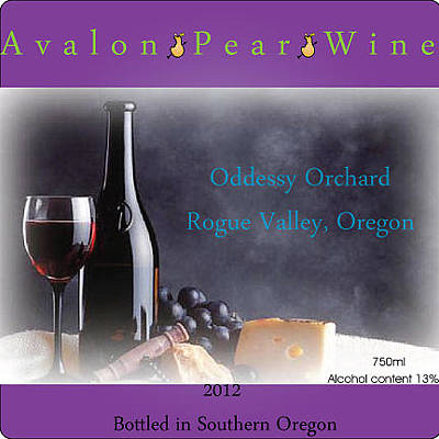 Purple Grapes Digital Art - Avalon Wine Label by Teri Schuster
