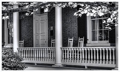 Photograph - Avenel Porch - Bedford - Virginia by Steve Hurt