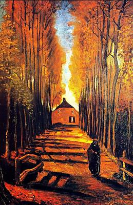 Avenue At Poplars Art Print by Sumit Mehndiratta