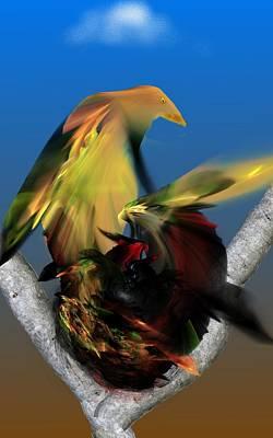 Digital Art - Avian Dreams Series 1-1311 by David Lane