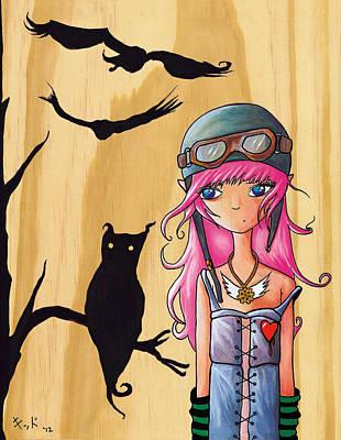 Manga Painting - Aviators by Jen Kiddo