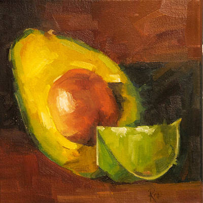 Painting - Avocado And Lemon by Jose Romero