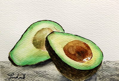 Avocado Art Print by Prashant Shah