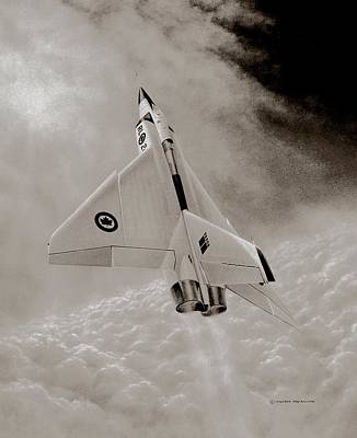 Nato Painting - Avro Arow Ghost Flight by Michael Swanson