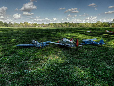 Radio Control Photograph - Awaiting Takeoff 001 by Lance Vaughn
